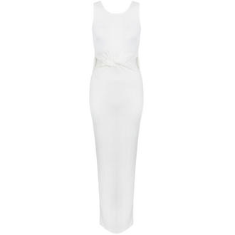 View Item White Twist Knot Cut Out Maxi Dress